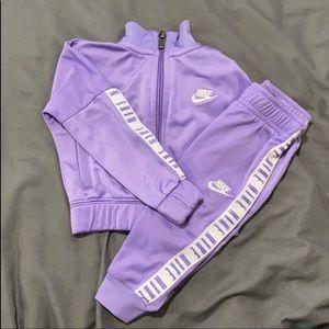 BabyGirl Lavender Nike Tracksuit